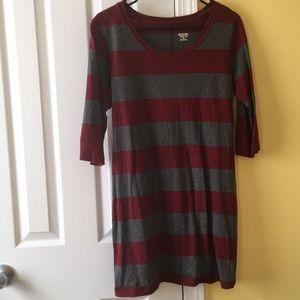Stripped mini t-shirt dress